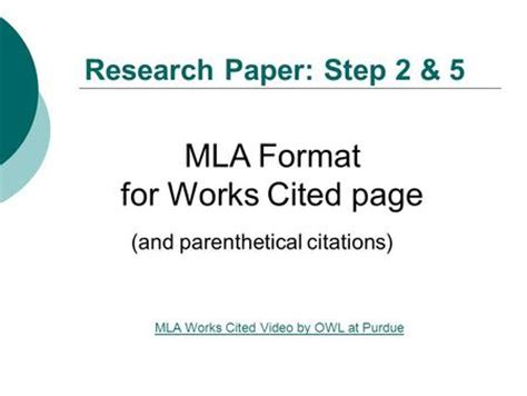 How to cite references in a research paper mla